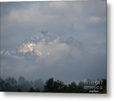 Out Of The Clouds Metal Print by Greg Patzer