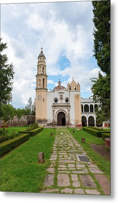 Oxtotipac Church And Monastery Mexico Metal Print by Marek Poplawski