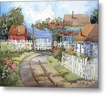 Pacific Out Back Metal Print by Joyce Hicks