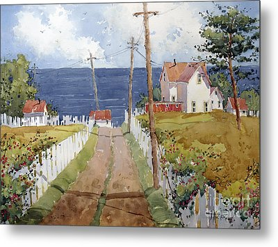 Pacific View And Blackberries Too Metal Print by Joyce Hicks