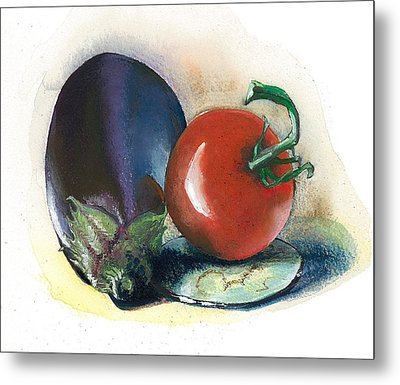 Painted..cooked.. Metal Print by Alessandra Andrisani