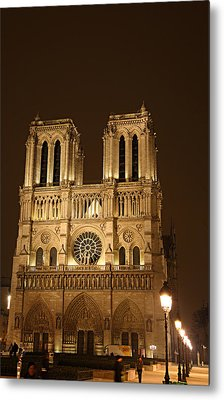 Paris France - Notre Dame De Paris - 01131 Metal Print by DC Photographer