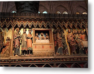 Paris France - Notre Dame De Paris - 011311 Metal Print by DC Photographer