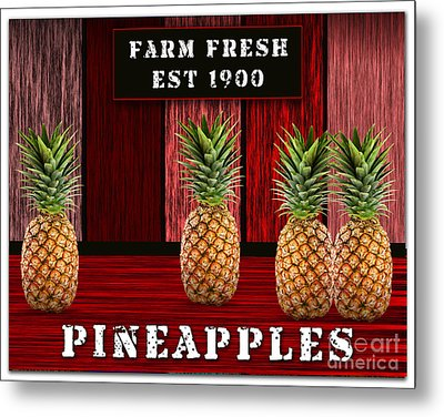 Pineapple Farm Metal Print by Marvin Blaine