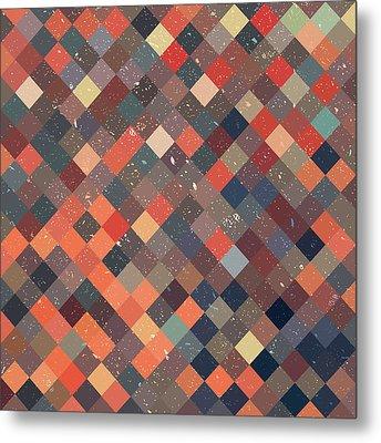 Pixel Art Metal Print by Mike Taylor