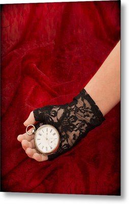 Pocket Watch Metal Print by Amanda Elwell