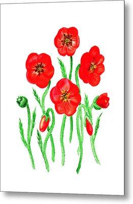 Poppies Metal Print by Irina Sztukowski