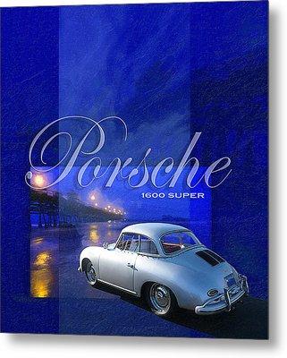 Porsche 1600 Super Metal Print by Ron Regalado