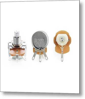 Potentiometers Metal Print by Science Photo Library