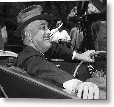 President Franklin Roosevelt Metal Print by Underwood Archives