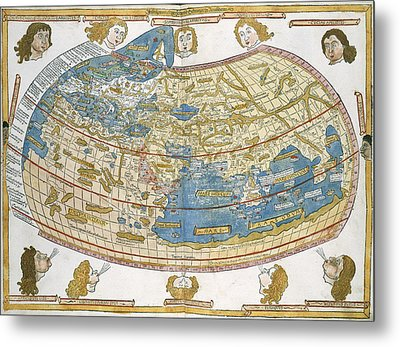 Ptolemic World Map Metal Print by British Library
