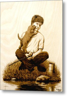 Puppy Love Metal Print by Roger Jansen