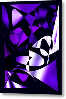 Purple Abstract Art Metal Print by Mario Perez