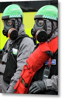 Radiation Emergency Response Workers Metal Print by Public Health England