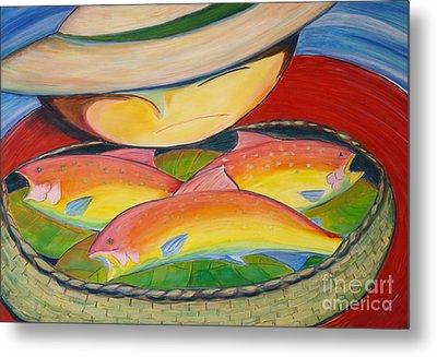 Rainbow Fish Metal Print by Teresa Hutto