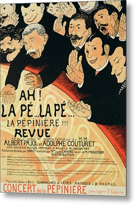 Reproduction Of A Poster Advertising Metal Print by Jules Alexandre Gruen or Grun