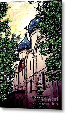 Russian Church Metal Print by Sarah Loft
