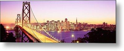 San Francisco Ca Metal Print by Panoramic Images