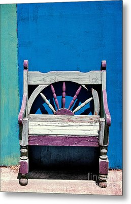 Santa Fe Chair Metal Print by Elena Nosyreva
