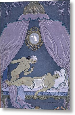 Scene From 'les Liaisons Dangereuses' Metal Print by Georges Barbier