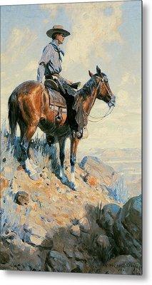 Sentinel Of The Plains Metal Print by William Herbert Dunton