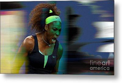 Serena Williams Metal Print by Marvin Blaine