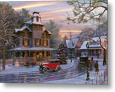 Snow Streets Metal Print by Dominic Davison