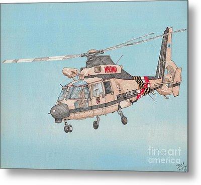 State Police Helicopter Metal Print by Calvert Koerber