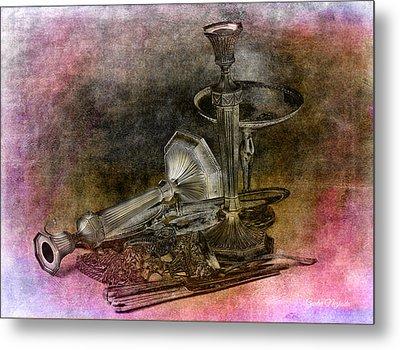 Sterling Silver Scrap Metal Print by Gunter Nezhoda