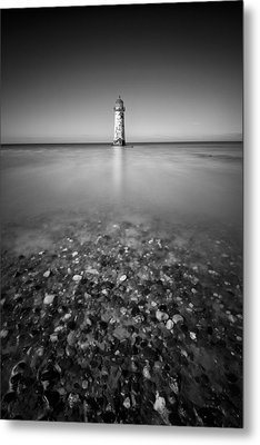 Talacre Lighthouse Metal Print by Dave Bowman