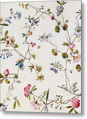 Textile Design Metal Print by William Kilburn