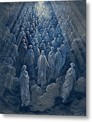 The Angels In The Planet Mercury Metal Print by Gustave Dore