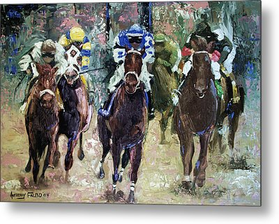The Bets Are On Metal Print by Anthony Falbo