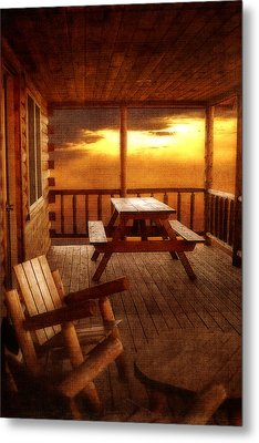 The Cabin Metal Print by Joann Vitali