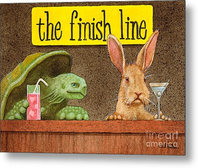 The Finish Line... Metal Print by Will Bullas