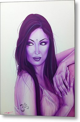 Portrait - ' The First Breath Of Creation ' Metal Print by Christian Chapman Art
