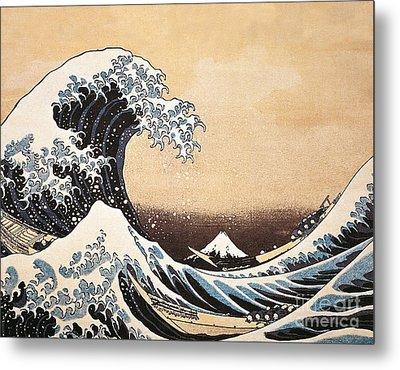 The Great Wave Of Kanagawa Metal Print by Hokusai