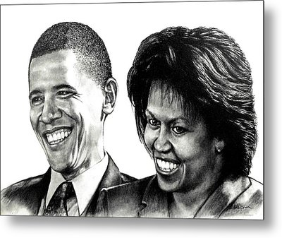 The Obama's Metal Print by Todd Spaur