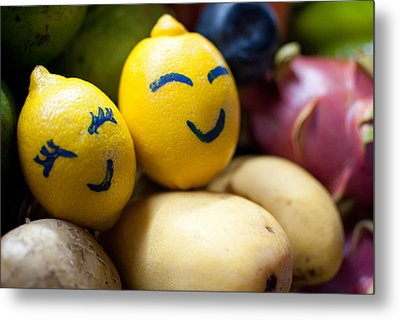 The Smiling Lemons Metal Print by Mohd Shukur Jahar