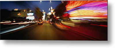 The Strip At Dusk, Las Vegas, Nevada Metal Print by Panoramic Images