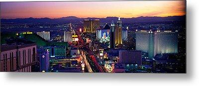 The Strip, Las Vegas, Nevada, Usa Metal Print by Panoramic Images