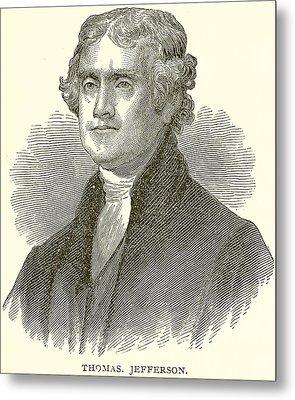 Thomas Jefferson Metal Print by English School