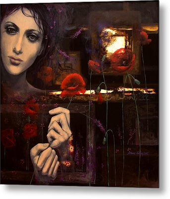 Touching The Ephemeral Metal Print by Dorina  Costras