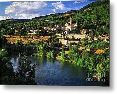 Town Of Sisteron In Provence Metal Print by Elena Elisseeva
