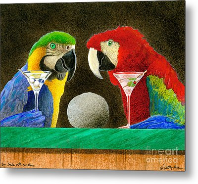 Two Birds With One Stone... Metal Print by Will Bullas