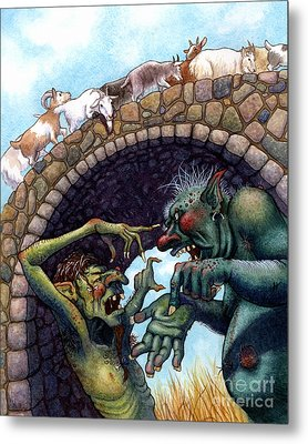 2 Ugly Trolls Metal Print by Isabella Kung