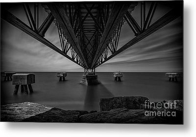 Under The Pier Metal Print by James Dean