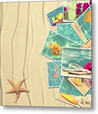Vacation Postcards Metal Print by Amanda Elwell