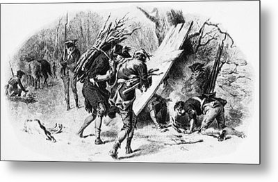 Valley Forge: Huts, 1777 Metal Print by Granger