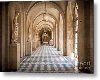 Versailles Hallway Metal Print by Inge Johnsson
